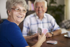 We are never too old to play cards